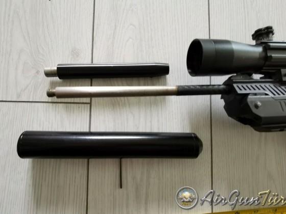 Uzun namlu dipcik ve moderatörlü Zoraki Ultra HP01.